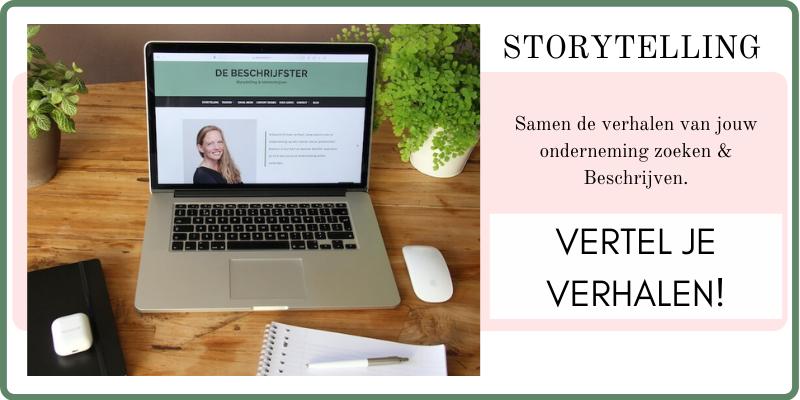 Verhalen vertellen: storytelling met De Beschrijfster